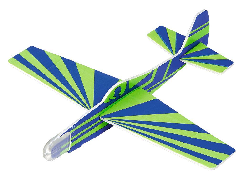 Leuchtender Segelflieger Glow in the Dark blau