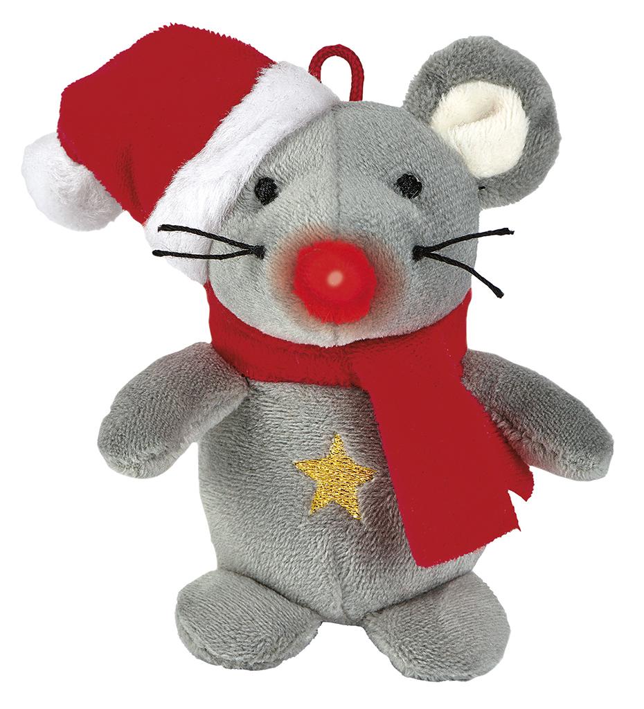 Singender Weihnachtsfreund Maus