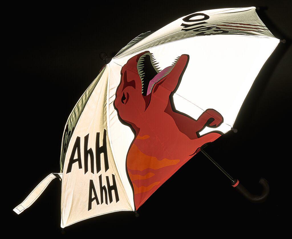Reflektierender Regenschirm T-Rex