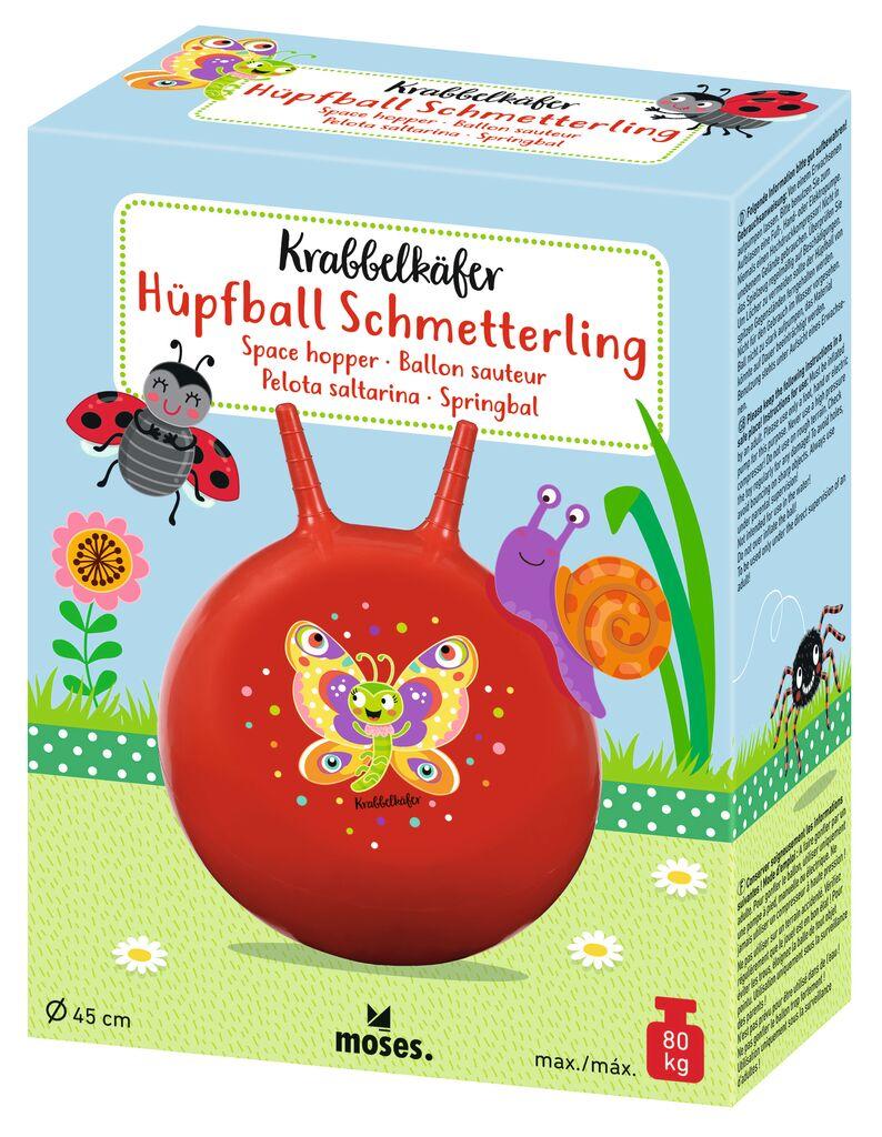 Krabbelkäfer Hüpfball Schmetterling