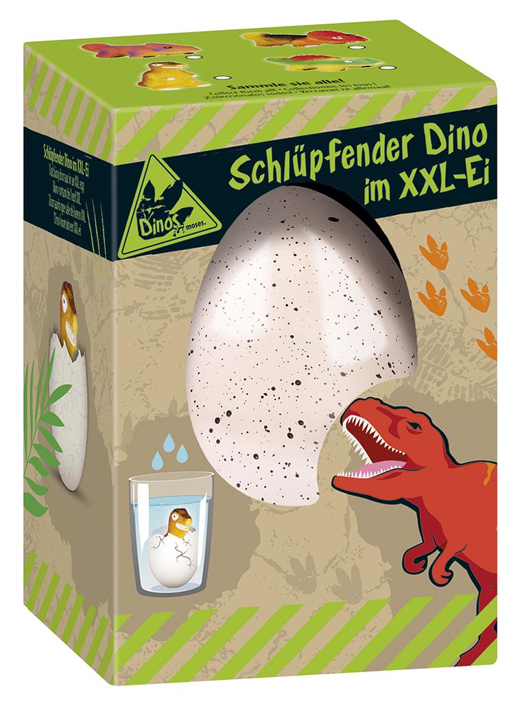 Schlüpfender Dino im XXL-Ei