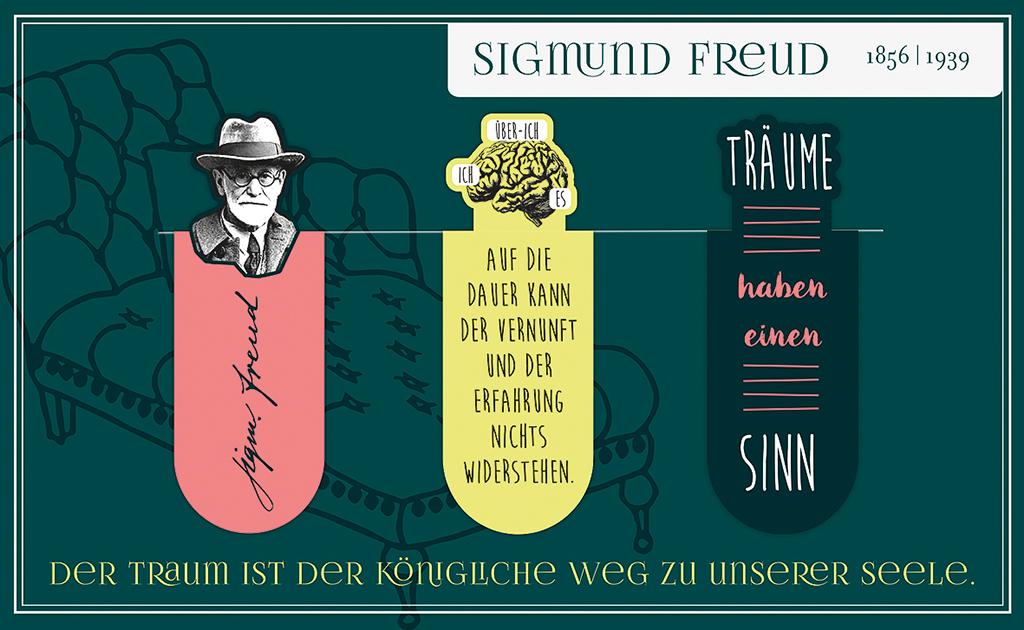 Magnetlesezeichen Sigmund Freud