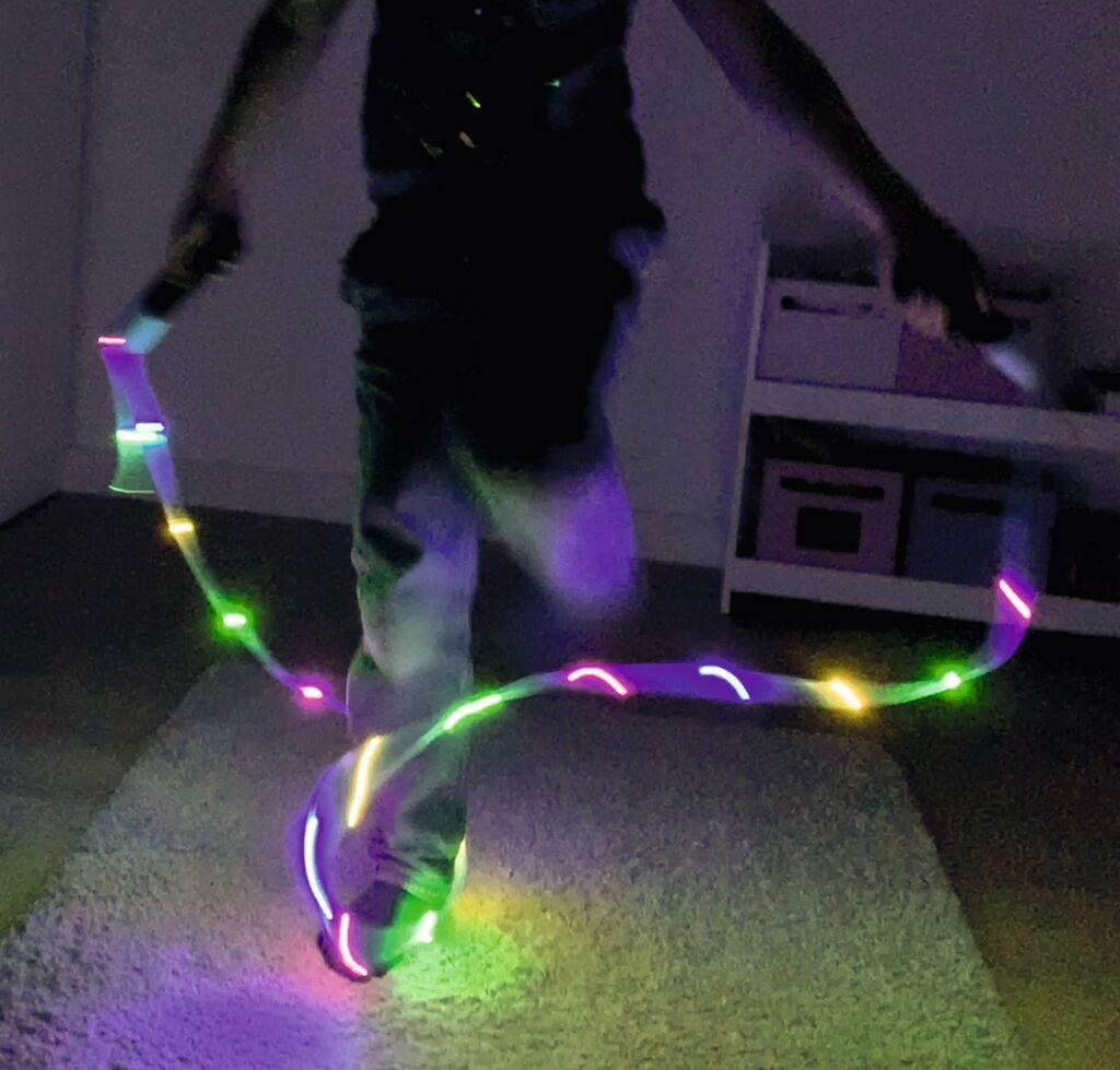 Leuchtendes Springseil