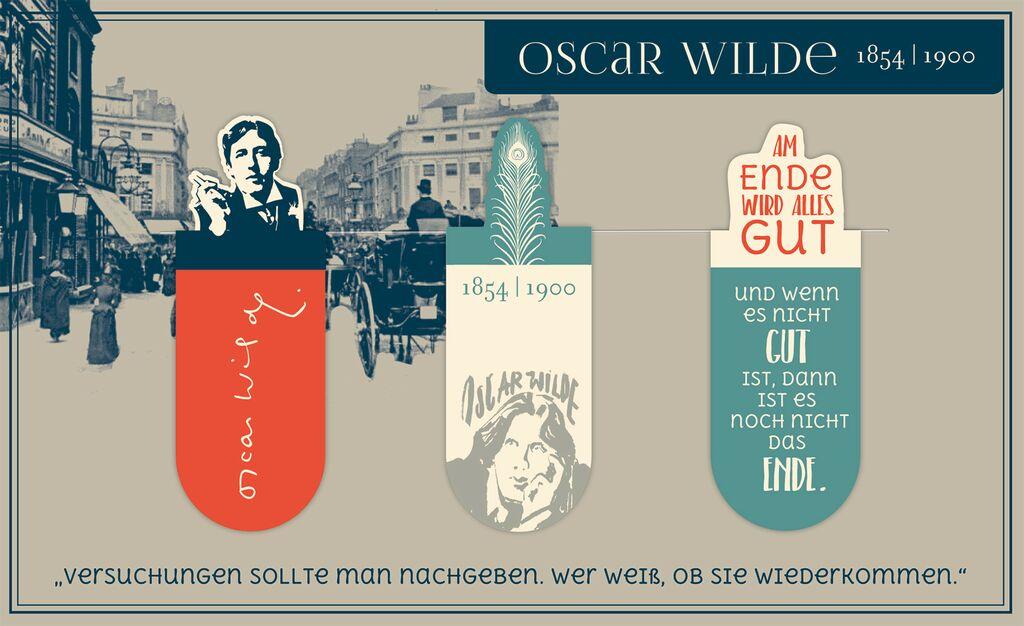 Magnetlesezeichen Oscar Wilde