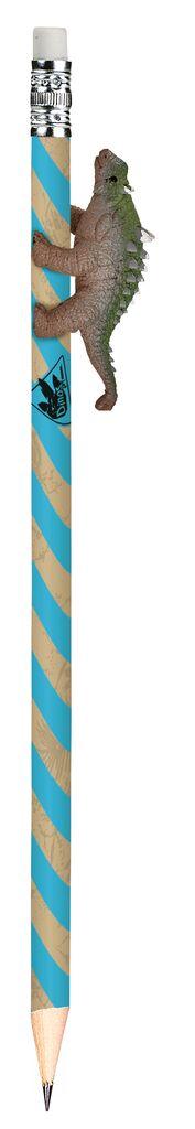 Dino-Bleistift blau
